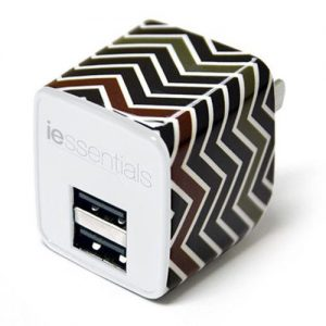 iEssentials Dual USB Wall Charger - Chevron