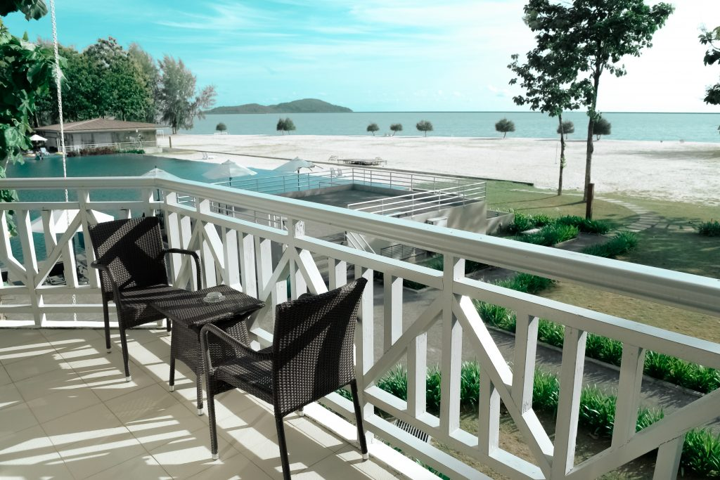 deck railing ideas balcony beach