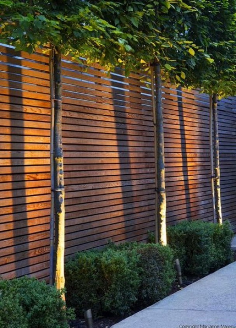 fence lighting - fence designs