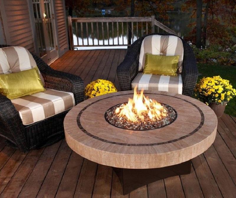 winter deck fire pit - deck ideas