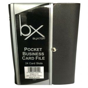Pocket Business Card File Black